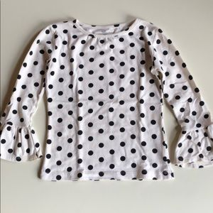 Persnickety | White & Black Polka Dot L/S Top | 4